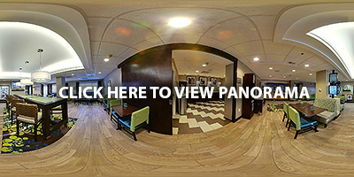360 VR Panorama of the Hampton Inn Hotel in Mebane, NC | VR Photography by Kalpit Desai | KD PhotoGraphics Inc. | Raleigh, NC